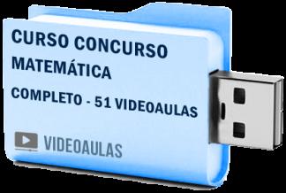 Curso Completo Matemática Concursos ENEM Vestibular Videoaulas Pendrive