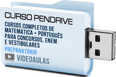 Curso Completo de Matemática e Português Nível Médio e Fundamental Pendrive
