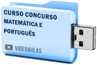 Curso Completo Matemática Português Concursos ENEM Vestibular Videoaulas Pendrive