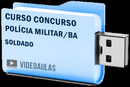 Curso Concurso Polícia Militar BA Soldado PM Videoaulas Pendrive