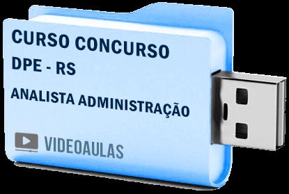Defensoria Pública DPE RS Analista Administração Curso Concurso Vídeo Aulas