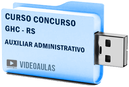 Curso Concurso Vídeo Aulas Hospital Conceição GHC Auxiliar Administrativo 2018 – Pendrive