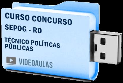 Sepog RO Técnico em Políticas Públicas e Gestão Governamental Curso Vídeo Concurso