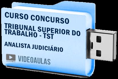 Tribunal Superior Trabalho TST Analista Judiciário Curso Concurso Vídeo Aulas