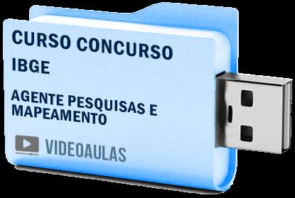 Curso Vídeo Aulas Processo Seletivo IBGE Agente Pesquisas Mapeamento