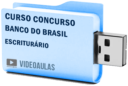 Concurso Banco Brasil Escriturário Curso Básico Videoaulas Pendrive
