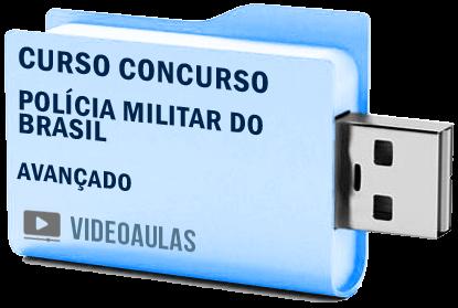Curso Avançado Vídeo Aulas Concurso Polícia Militar Brasil Soldado Oficial