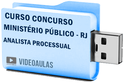 Curso Concurso Vídeo Aulas Ministério Público – RJ – Analista Processual 2018 Pendrive