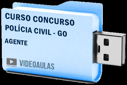 Curso Concurso Vídeo Aulas Polícia Civil – GO – Agente – Pendrive 2018
