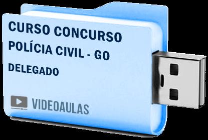 Curso Concurso Vídeo Aulas Polícia Civil – GO – Delegado – Pendrive 2018