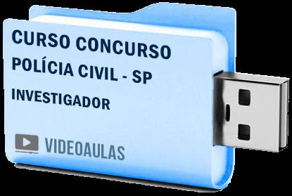 Curso Concurso Vídeo Aulas Polícia Civil – SP – Investigador – Pendrive 2018