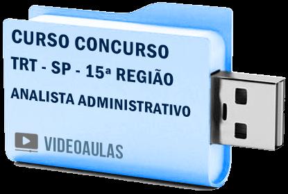 Curso Vídeo Aulas Concurso TRT – SP – 15ª Região – Analista Administrativo 2018 – Pendrive