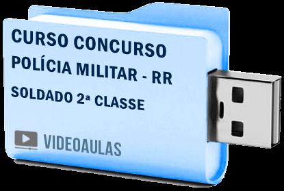 Curso Vídeo Aulas Concurso Polícia Militar – RR – Soldado 2ª Classe 2018 – Pendrive