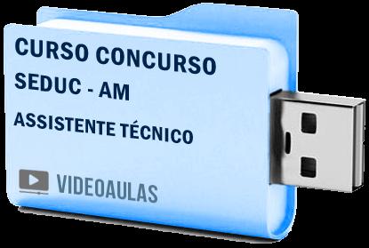 Curso Vídeo Aulas Concurso SEDUC – AM – Assistente Técnico 2018 – Pendrive