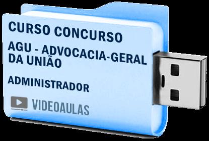 Curso Concurso AGU – Administrador – Vídeo Aulas Pendrive