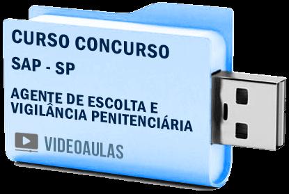 Curso Vídeo Aulas Concurso SAP – SP – Agente Escolta Vigilância Penitenciária – Pendrive