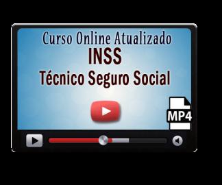 Concurso INSS Técnico Seguro Social Curso Online Videoaulas