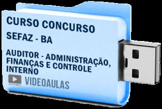 Curso Concurso Sefaz BA Auditor Administração Finanças e Controle Interno Vídeo Aulas