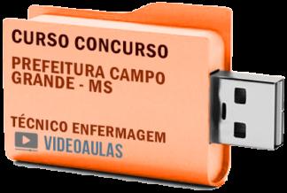 Concurso Prefeitura Campo Grande MS – Técnico Enfermagem Curso Videoaulas