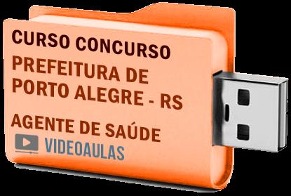 Concurso Prefeitura Porto Alegre – RS – Agente Comunitário de Saúde Curso Videoaulas Pendrive